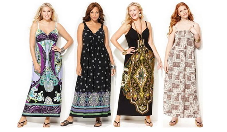 Летняя мода для полных женщин фото